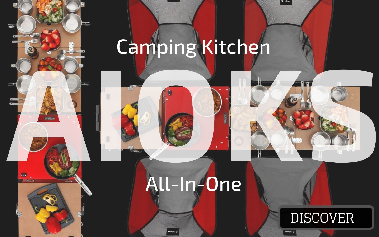 Aioks, gas camping kitchen by ikamper